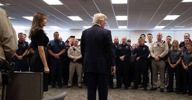 Trump offers prayers, condolences during stop in Vegas