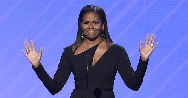 Michelle Obama decries lack of diversity in politics