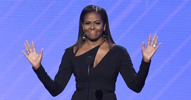 Michelle Obama decries lack of diversity in politics