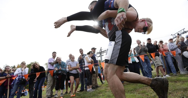 Have wife will carry: Couples vie in wife-carrying contest