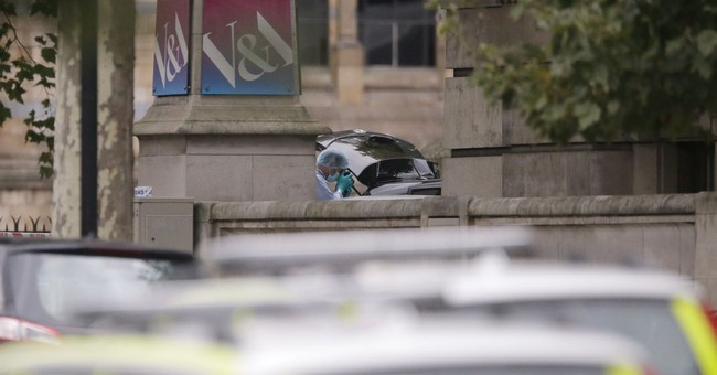 The Latest: London Ambulance: 11 injured in museum car crash