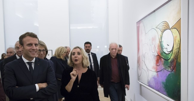 French president inaugurates major Picasso exhibition