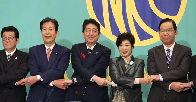 Abe says Japan fully behind US on pressuring North Korea