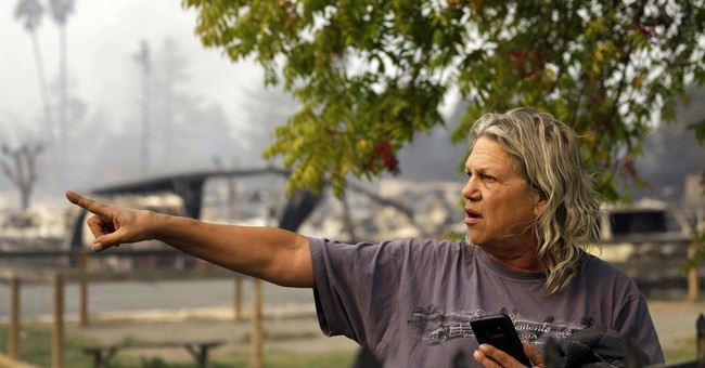 Wildfire chars California trailer park in 'blink of an eye'