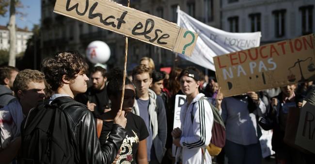 French public sector strike disrupt schools, hospitals