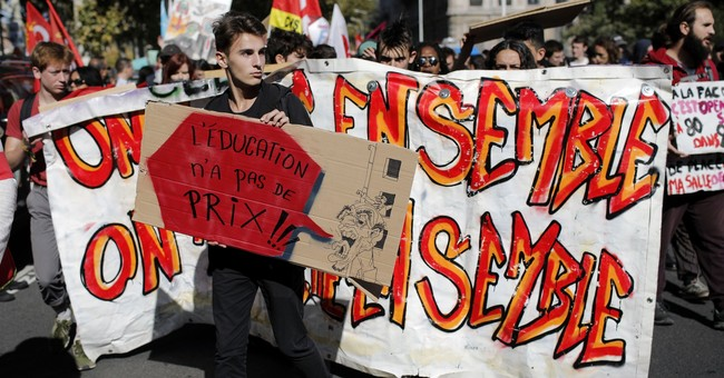 French public sector strike disrupt schools, hospitals