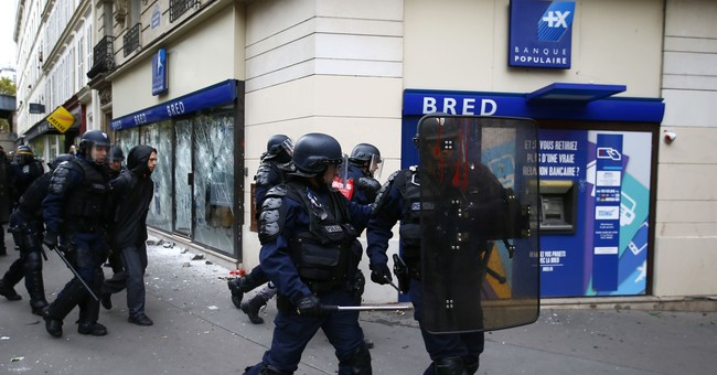 The Latest:  French protesters express fear of more cutbacks