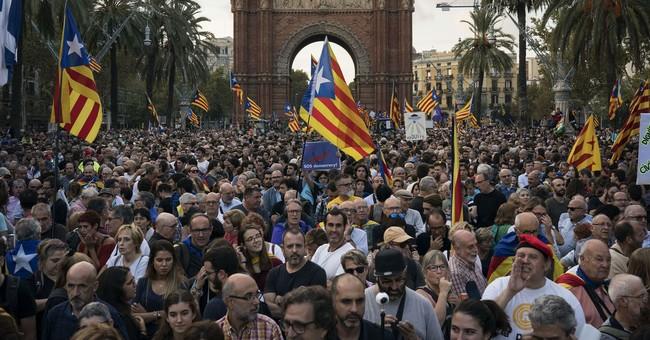 The Latest: Radical Catalans make demands on regional govt