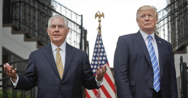 The Latest: Trump says he and Tillerson disagree on NKorea