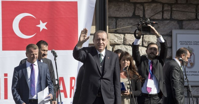 Turkish leader Erdogan visits mostly Muslim Serbia region
