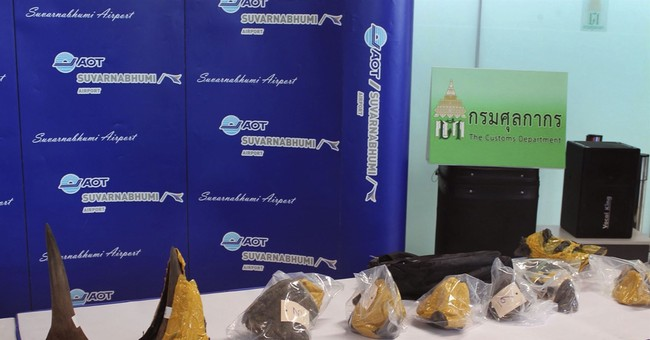 Thailand seizes rhino horns, arrests suspected smugglers