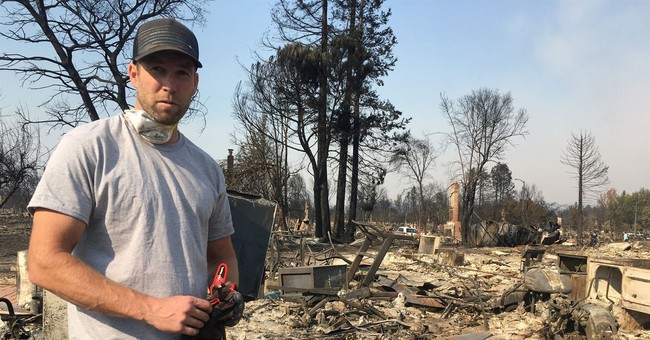 Fire survivor, resident with home intact wrestle with guilt