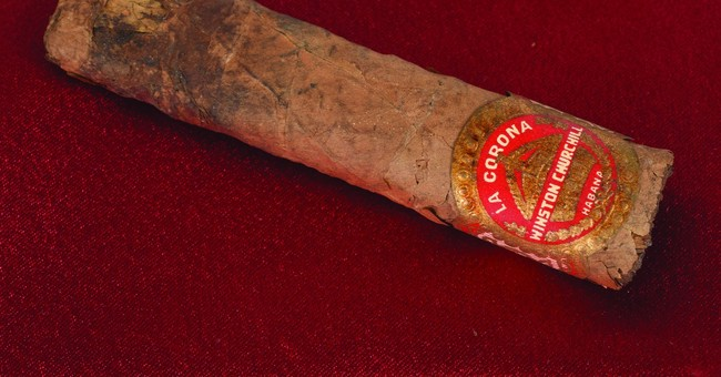 Half-smoked Winston Churchill cigar sells for $12,000