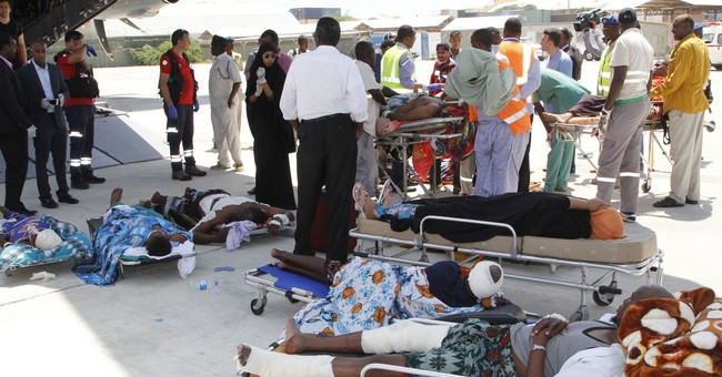 The Latest: 35 Somali victims arrive in Turkey for treatment