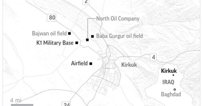 The Latest: Iraqi PM calls for dialogue after Kirkuk