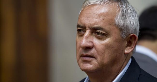 Ex-Guatemalan president says he's innocent in graft case
