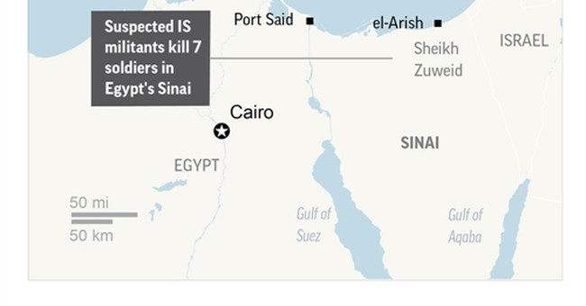Militants rob bank, attack church in Egypt's Sinai; 7 dead