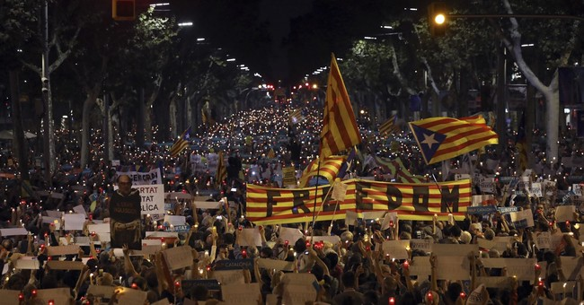 The Latest: Barcelona protesters demand activists' release