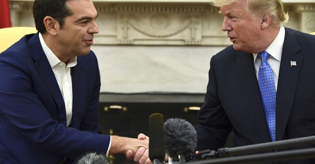 The Latest: Trump says US stands with Greece as it recovers