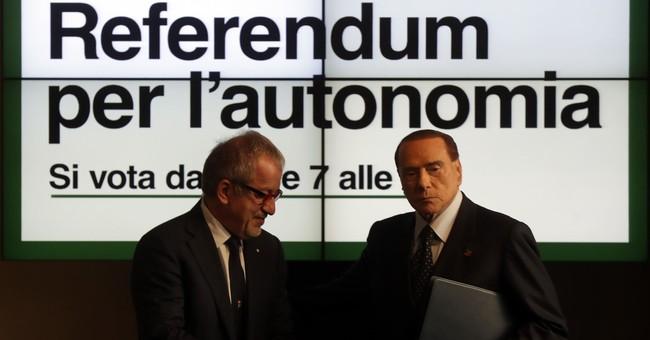 Berlusconi stumps for referendums in 2 Italian regions