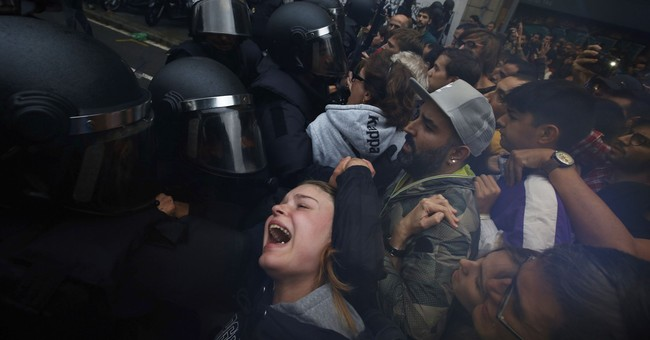 AP PHOTOS: A chaotic month in Spain's Catalonia region