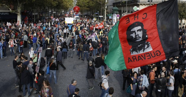French protest labor changes but fewer take to the streets