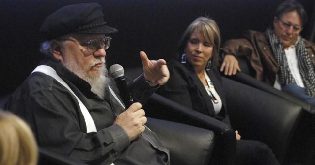 George R.R. Martin mixes business, politics at film forum