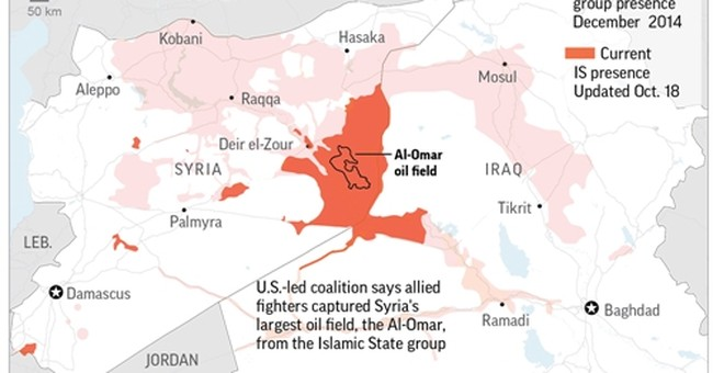 Russia: Less than 5 percent of Syria still under IS control