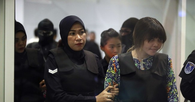 Women on trial visit scene of attack on North Korean scion