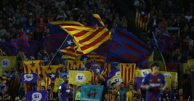 Barcelona's vast stadium gives voice to Catalan separatism