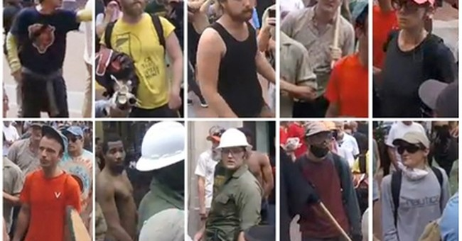 10 suspects wanted in assault day of Charlottesville rally