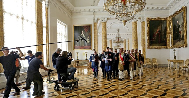 Film about Russian czar's affair premieres despite hostility