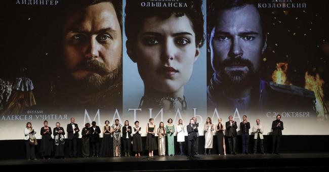 Film about Russian czar's affair premieres despite hostility