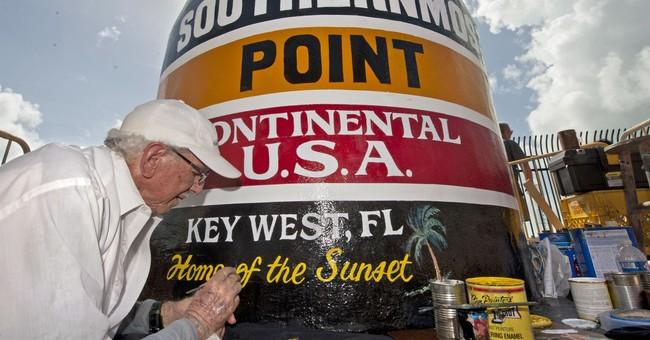 Key West marker restored after Hurricane Irma