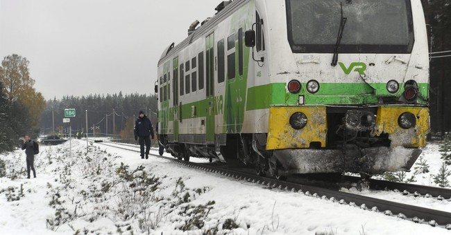 Train slams into Finnish military truck at crossing; 4 dead