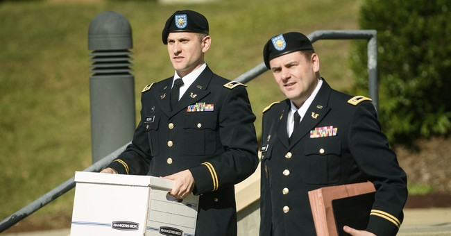 The Latest: On stand, Bergdahl says sorry to the wounded