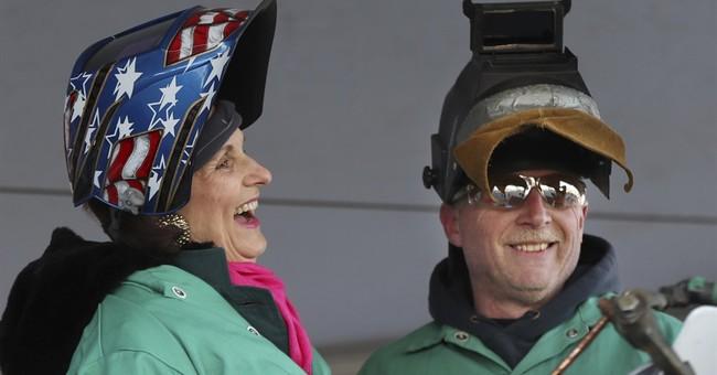 Lyndon B. Johnson's daughters mark stealth ship's milestone