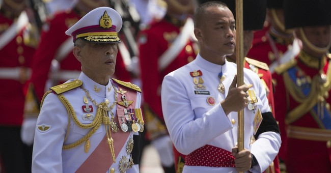 Thai king's cremated remains prepared for enshrinement