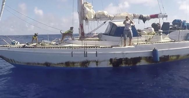 Sailboat survivors recount doomed Pacific voyage