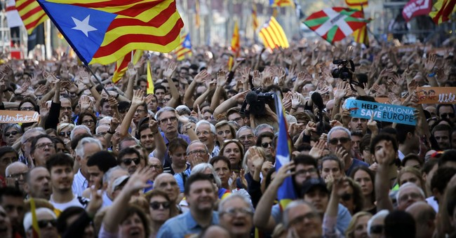 The Latest: EU official says no one will recognize Catalonia