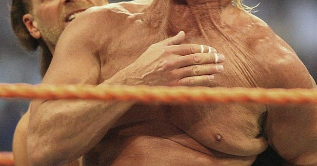 AP Interview: Up from deathbed, Flair set to style, profile