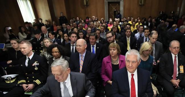 The Latest: Democrats ask Mattis, Tillerson about nukes