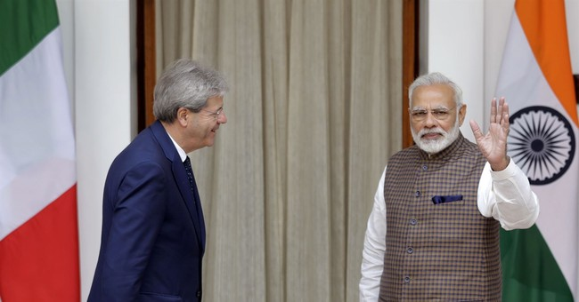 India, Italy leaders hold talks marking thaw in relations