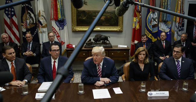 The Latest: Trump encourages House GOP tax plan writers