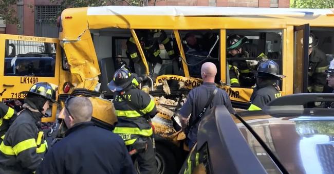 'Horror': 1 student from mangled bus hospitalized, 1 OK