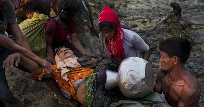 AP PHOTOS: Rohingya Muslims await chance to enter Bangladesh