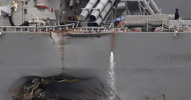 Collision worries prompt Navy review of all staff, ships