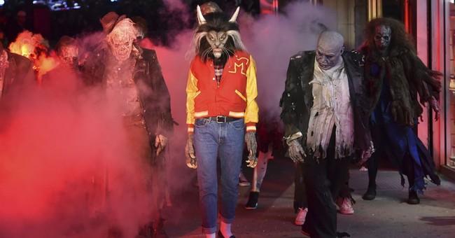 Stars celebrate Halloween with costume cavalcade