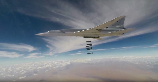 The Latest: Russia extends long-range strikes on IS in Syria