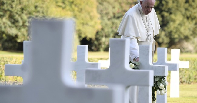 Pope Francis recalls cost of war with WWII site visits